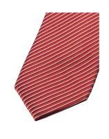 Krawat slim Olymp – czerwony w paski