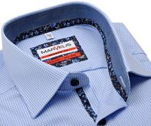 Koszula Marvelis Modern Fit – w jasnoniebieską kratkę z wewnętrzną stójką i mankietem