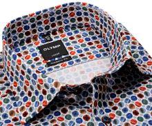 Koszula Olymp Modern Fit – designerska w różnokolorowe koła - extra długi rękaw