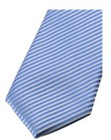 Krawat slim Olymp – błękit królewski w paski