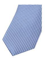 Krawat slim Olymp – jasnoniebieski z tkanym wzorem