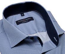 Koszula Casa Moda Modern Fit – z niebieskim wzorem wewnętrzną stójką i mankietem - extra długi rękaw