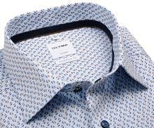 Koszula Olymp Comfort Fit – jasnoniebieska z niebiesko-brązowym wzorem