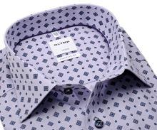 Koszula Olymp Luxor Comfort Fit - w delikatne fioletowe prążki i ciemnoniebieski wzór