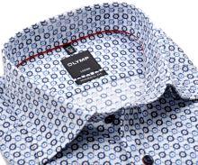 Koszula Olymp Modern Fit – w niebiesko-czerwone koła