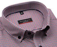 Koszula Eterna Modern Fit - z czerwono-czarnym wzorem