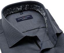 Koszula Casa Moda Modern Fit – ciemnoszara z delikatną strukturą i designerską stójką wewnętrzną