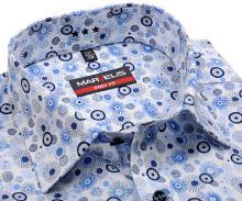 Koszula Marvelis Body Fit – designerska z okrągłym wzorem