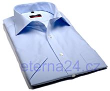 Koszula Eterna Modern Fit - jasnoniebieska - krótki rękaw