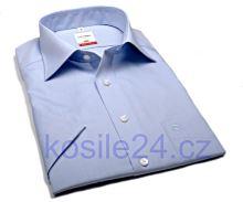 Koszula Olymp Modern Fit Chambray - jasnoniebieska - krótki rękaw