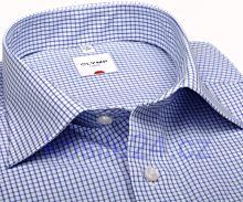 Koszula Olymp Luxor Comfort Fit - w niebieską kratkę