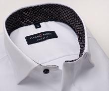 Luksusowa koszula Casa Moda Comfort Fit Premium – biała z diagonalną strukturą - extra długi rękaw