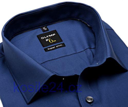Niebieska metaliczna koszula Olymp Super Slim