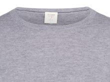 Sweter Olymp Level Five z wełny merino z domieszką jedwabiu - szary - okrągły dekolt
