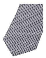 Krawat slim Olymp – antracytowy z tkanym wzorem