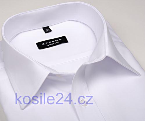 Koszula Eterna Comfort Fit - biała - krótki rękaw