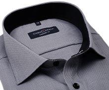 Koszula Casa Moda Comfort Fit Premium – szara ze strukturą, wewnętrzną stójką i mankietem