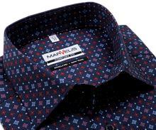 Koszula Marvelis Comfort Fit – granatowa z czerwono-różowo-niebieskim wzorem