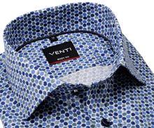 Koszula Venti Body Fit Stretch - designerska w niebiesko-zielone koła