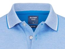 Polo koszulka Olymp z kołnierzykiem - kobaltowo niebieska z białą siateczką