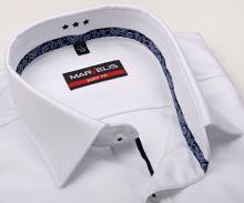 Luksusowa koszula Marvelis Body Fit Twill – biała z diagonalną strukturą