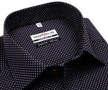 Koszula Marvelis Comfort Fit – ciemnoniebieska w czerwono-białe kropki