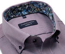 Koszula Casa Moda Comfort Fit Premium – z czerwono-niebieskim wzorem i kwiatową wewnętrzną stójką