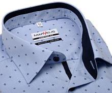Koszula Marvelis Comfort Fit – jasnoniebieska w ciemnoniebieski wzór z wewnętrzną stójką