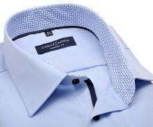 Koszula Casa Moda Comfort Fit – jasnoniebieska z niebieską stójką wewnętrzną i mankietem