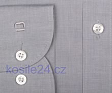 Jasnoszara koszula Olymp Level Five Chambray