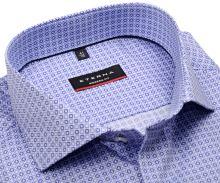 Koszula Eterna Modern Fit - z niebiesko-białym nadrukowanym wzorem - super długi rękaw