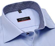 Koszula Eterna Modern Fit – jasnoniebieska z niebiesko-białą wewnętrzną stójką - super długi rękaw