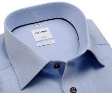 Koszula Olymp Comfort Fit – jasnoniebieska z wyszytym wzorem - extra długi rękaw