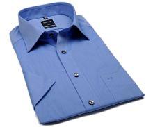 Koszula Olymp Luxor Comfort Fit Chambray - niebieska - krótki rękaw