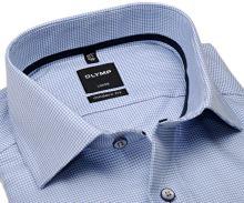Koszula Olymp Modern Fit – jasnoniebieska z wplecionym wzorem i wewnętrznym mankietem - extra długi rękaw