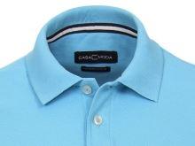 Koszulka polo Casa Moda - turkusowo-niebieska z kołnierzykiem