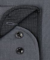 Koszula Marvelis Comfort Fit Fil-a-Fil – szara z wewnętrzną stójką i mankietami