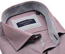 Koszula Casa Moda Comfort Fit Premium – kolor wina, ze strukturą i kołnierzykiem wewnętrznym - super długi rękaw