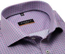 Koszula Eterna Slim Fit - z różowo-niebieskim wzorem