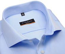 Koszula Eterna Slim Fit Twill Cover - jasnoniebieska luksusowa i nieprześwitująca