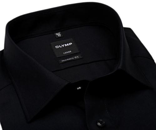 Koszula Olymp Luxor Modern Fit - czarna - krótki rękaw