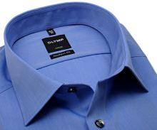 Koszula Olymp Luxor Modern Fit Chambray - niebieska - krótki rękaw