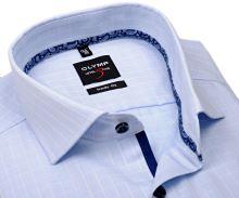 Koszula Olymp Level Five – jasnoniebieska w wyszytą krateczkę - extra długi rękaw