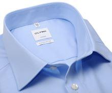 Koszula Olymp Comfort Fit Twill – jasnoniebieska luksusowa i nieprześwitująca z diagonalną strukturą