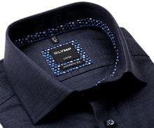 Koszula Olymp Modern Fit Twill – szaro-niebieska z diagonalną strukturą - extra długi rękaw