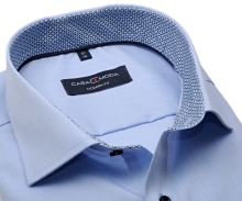 Koszula Casa Moda Modern Fit – jasnoniebieska z niebieską stójką wewnętrzną i mankietem