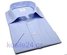 Koszula Olymp Luxor Comfort Fit – w jasnoniebieską krateczkę - krótki rękaw