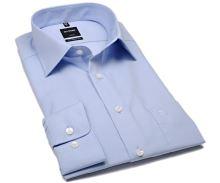 Koszula Olymp Luxor Modern Fit Chambray - jasnoniebieska - extra długi rękaw