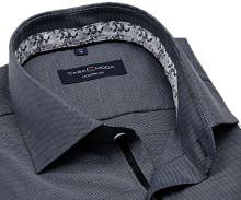 Koszula Casa Moda Modern Fit – antracytowa z delikatną strukturą i designerską stójką wewnętrzną
