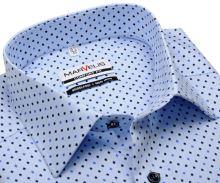 Koszula Marvelis Comfort Fit – jasnoniebieska z drobnym symbolem piku - krótki rękaw
